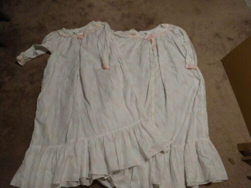 EILEEN WEST gown robe 2 pc set White FLORAL cotton