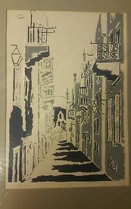 "A Rare Limited Edition Print 67/125 by Ante Pavlicevic Titled ""Prijeko"""