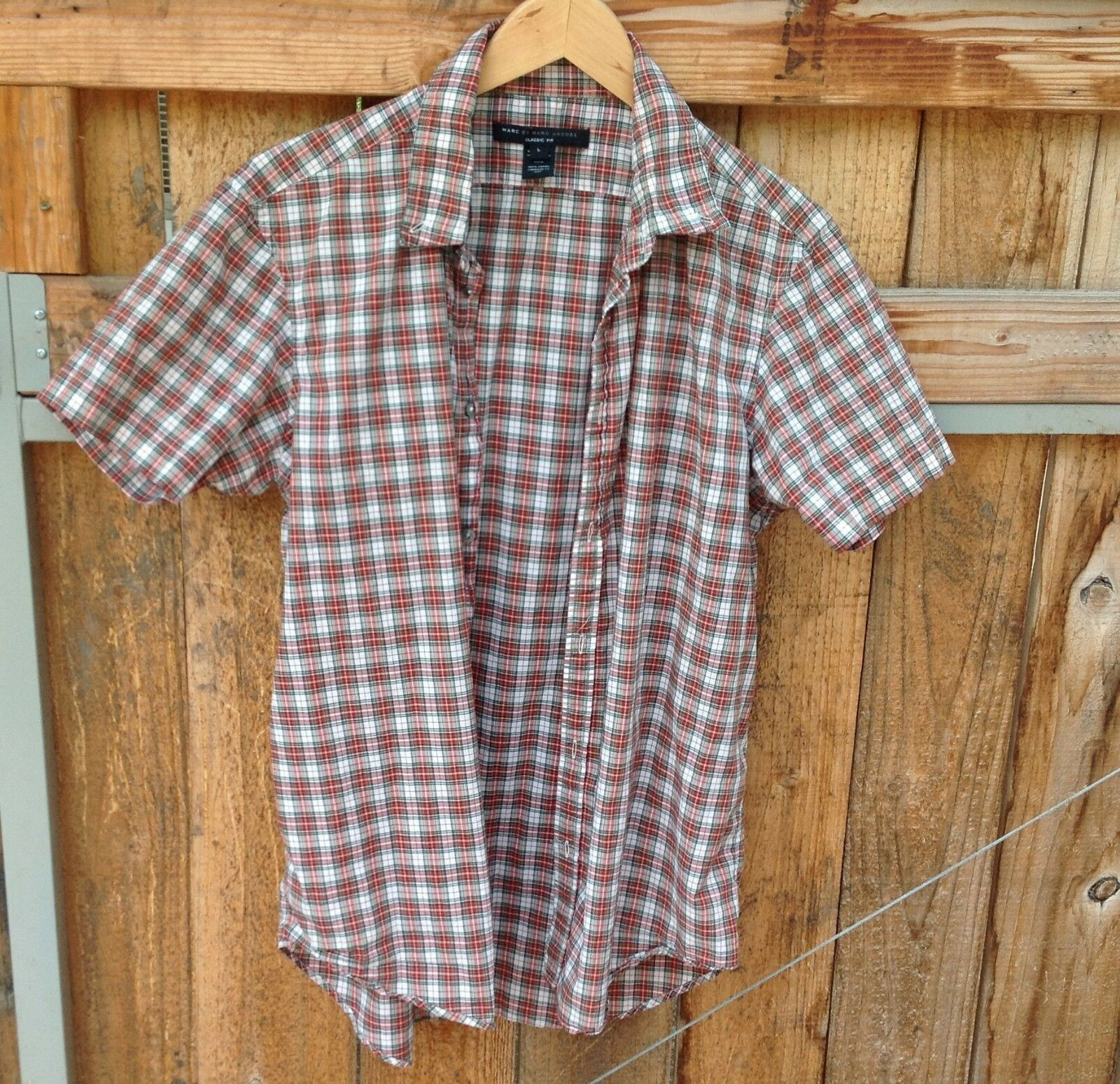 Marc By Marc Jacobs Casual Fit 100% Cotton Button Down Short Sleeve Shirt -Large