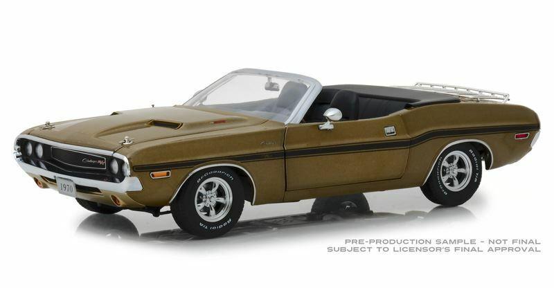 vertlight échelle 1 18 1970 Dodge Challenger R T Cabriolet Modèle   BN   13527