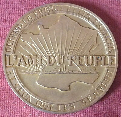 Coins: Ancient Other Ancient Coins Medal Bronze L'ami Du Peuple Aquitania 1931 We Have Won Praise From Customers