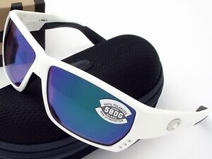 f2d93af2e5 NEW Costa Del Mar TUNA ALLEY White   580 Green Mirror Glass 580G ...