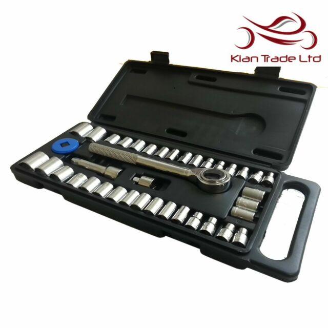 40 Pcs Mechanics Tool Set w// Case Socket Ratchet Wrench Home Garage Car