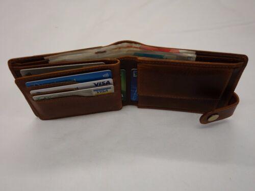 Caballeros cazador de calidad superior de cuero billetera Top Brand protegido RFID en Caja De Regalo
