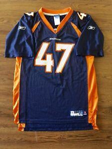 21613d15 Details about Denver Broncos Vintage John Lynch Blue Orange Jersey Kids Xl  Mens M Womens L