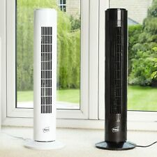 "Neo 29"" Inch Air Cooling Free Standing Tower Fan 3 Speed Oscillating Quiet"