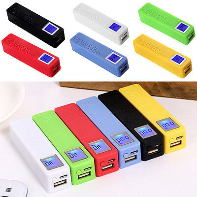2600mAh USB LCD Power Bank 18650 Battery Charger DIY Box Case Kit for Cell Phone