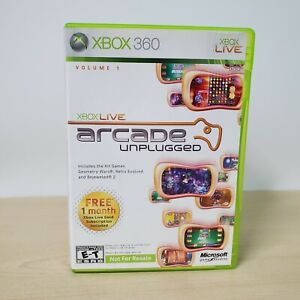 Xbox Live Arcade Unplugged Volume 1 - Microsoft Xbox 360 Game With Case Working