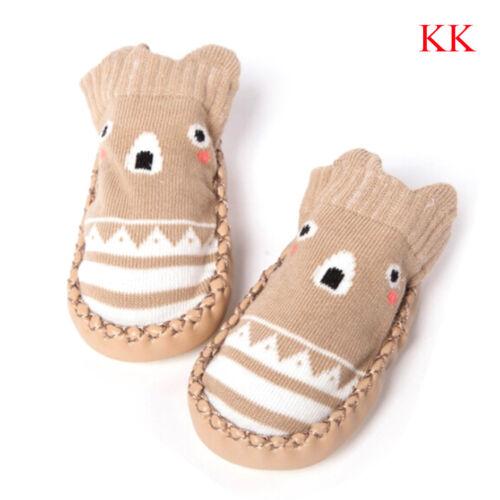 Toddler baby girl boy anti-slip boot socks kids baby cartoon warm-shoes slipper
