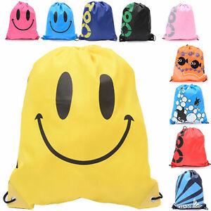 Boys-Girls-School-Drawstring-Bag-Sport-Gym-Sack-Swim-PE-Kit-Shoe-Sports-Backpack