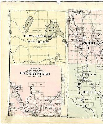 Maine township No. 11 1881 Map Devereux Deblois Beddington Cherryfield
