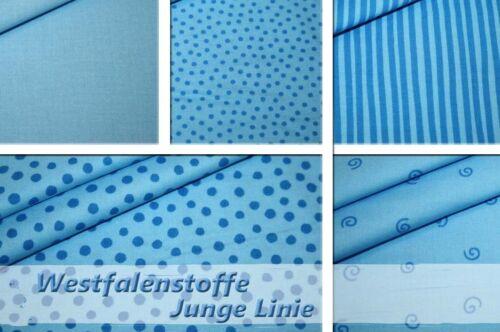 Westfalenstoff de toalla jóvenes línea azul puntos rayas 0,50m