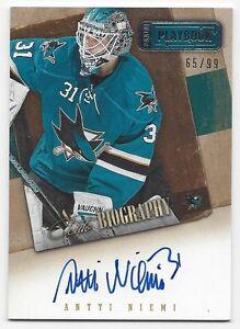 2013-14-Panini-Contenders-autographed-hockey-card-Antti-Niemi-San-Jose-Sharks