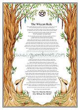 Wiccano Rede Versión Completa Color Cartel A4 Moongazing Hare Pagano Adulto Para Colorear