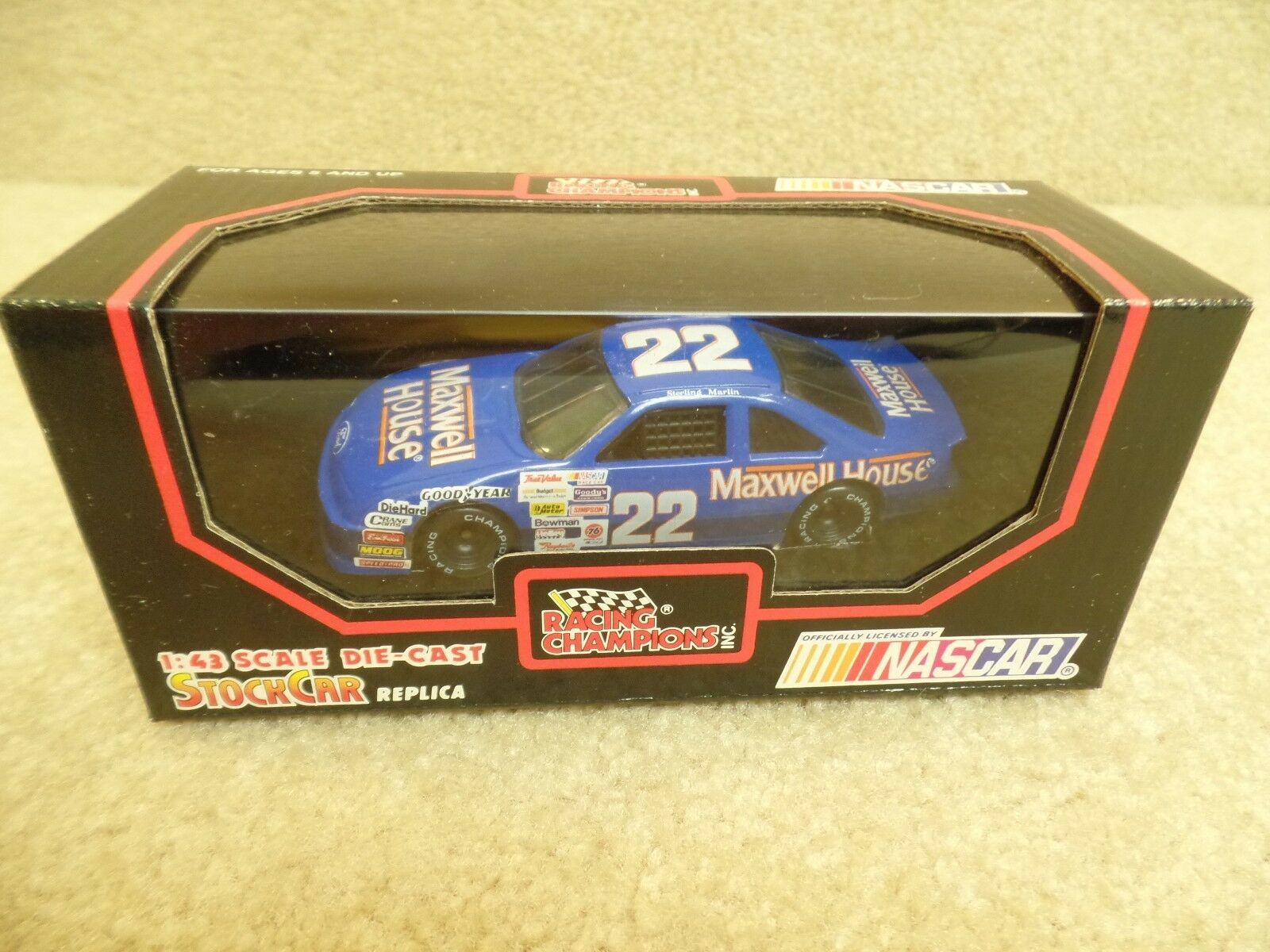 New 1991 Racing Champions 1 43 Diecast NASCAR Sterling Marlin Maxwell House