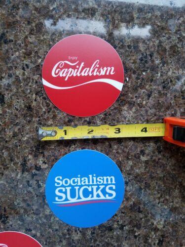 LOT 2 Stickers Capitalism Coca-Cola Style Socialism Sucks Bernie Sanders 2020