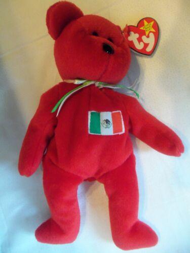 TY Beanie Babies Spain Flag Bear ** OSITO ** 5th Generation New w// Tag