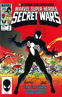 MARVEL Comics SECRET WARS #1 11x17 ART PRINT Signed by MIKE ZECK