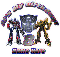 Transformers Optimus Prime And Bumblebee Personalized Favor Birthday Gift