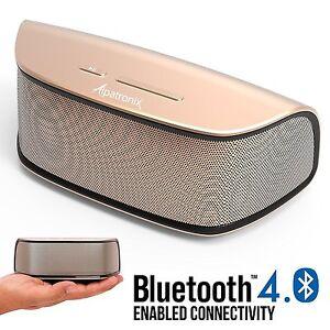 Alpatronix AX420 Bluetooth Speaker Volume/Playback Controls 10W Stereo w/ Mic