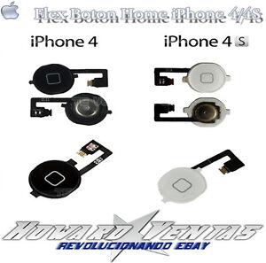 knopf startseite kabel flex f r iphone 4 4s wei schwarz wechseln ebay. Black Bedroom Furniture Sets. Home Design Ideas