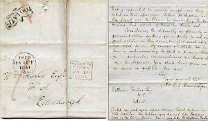 SCOTLAND-1841-TOO-LATE-GLASGOW-PAID-EDINBURGH-2-TYPES-BANNATYNE-to-FORBES