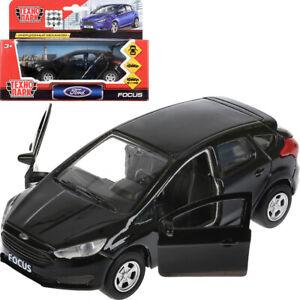 Ford-Focus-Hatchback-Black-Russian-Diecast-Model-Car-Scale-1-36