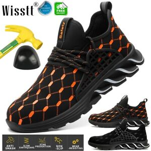 Mens-Safety-Work-Shoes-Steel-Toe-Boots-Indestructible-Outdoor-Cushioned-Sneakers