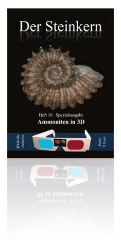 Spezialheft der Steinkern-Zeitschrift inklusive 3D-Brille Ammoniten in 3D