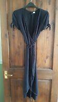 h&m black wrap dress uk 8