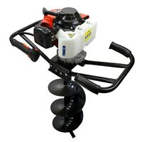 3hp 63cc Epa Gas Earth 2 Man Post Hole Digger 2 Person Machine + 10 Auger Bit on sale