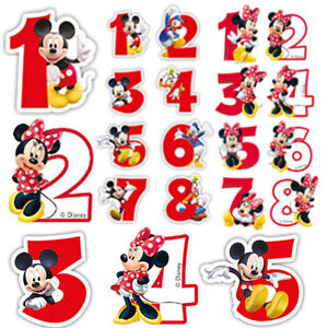 Candles Minnie & Mickey Mouse Happy Birthday Cake Numbers Boy ...