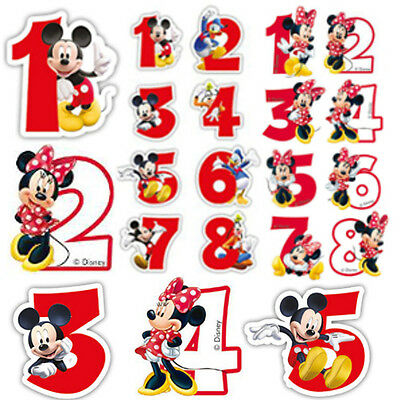 Terrific Candles Minnie Mickey Mouse Happy Birthday Cake Numbers Boy Girl Personalised Birthday Cards Vishlily Jamesorg