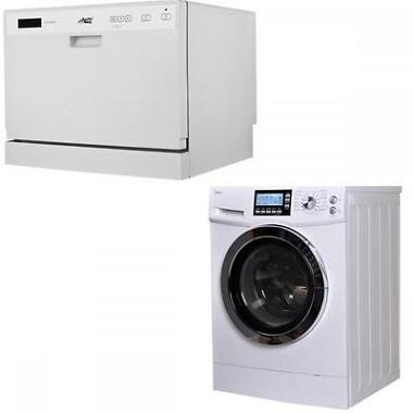 Midea 2 in 1 2.0 Cu. Ft. Combination Washer/Dryer Bundle