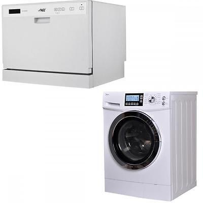 Midea dishwasher And 2 in 1 2.0 Cu. Ft. Combination Washer/Dryer Combo Ventless