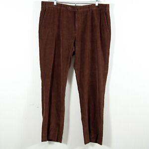 INCOTEX-Cotton-Cashmere-Blend-Corduroy-Straight-Leg-Pants-Men-039-s-Dark-Brown-42-33