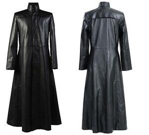 jack Reeves Neo lederen Gothic trenchcoat Keanu Matrix zwart WBodrCxe