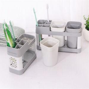 Bathroom-Toothbrush-Storage-Organiser-Dispenser-Cup-Holder-Rack-Stand-Wall-Mount