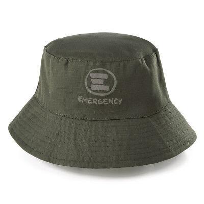 Emergency: Cappello antipioggia nylon e pile, double face