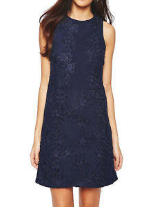 Warehouse-Sz-10-16-Blue-Navy-Cut-Out-Floral-Lace-Dress-Occasion-Wedding-Party