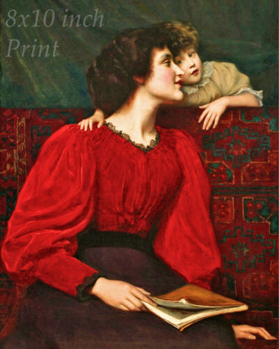 Woman Little Girl 8x10 Print Picture 2136 Mother and Child by William M Palin
