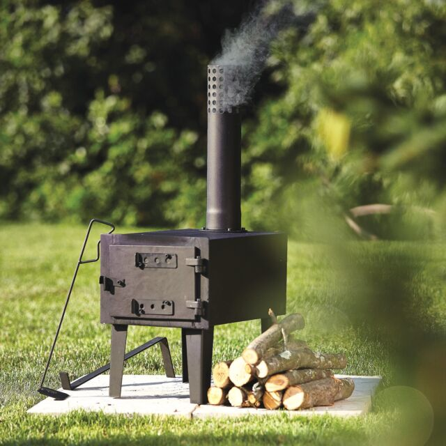 Wood Burning Stove Portable Outdoor Camping Steel Cooking Backyard Patio Porch