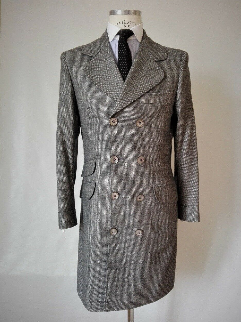 Hand made in  by Taylor man coat 100% CASHMERE Größe it 46/48 uk 36/38