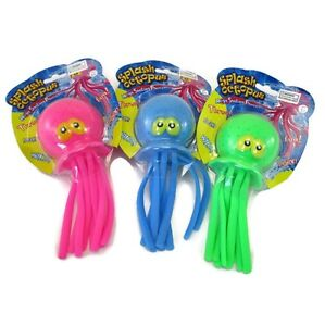 (3) Octopus Water Play Bombs Super Soakers Tub or Pool Toys