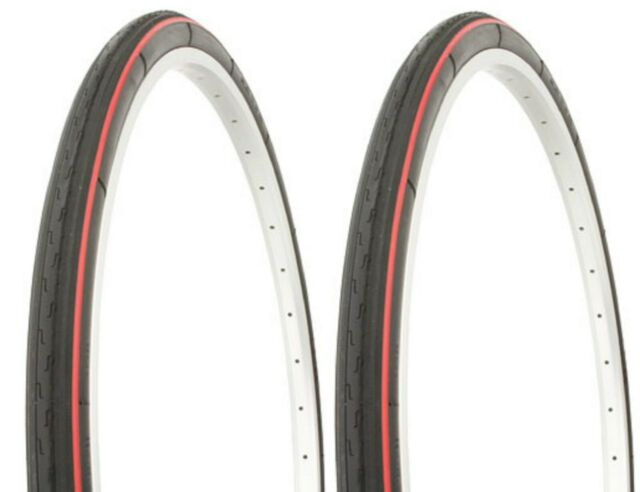 "2 RED LINE 26X1 3//8/"" BIKE BICYCLE TOURING TIRES// TUBES 37-590"