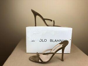 Manolo-Blahnik-light-brown-suede-high-heels-sz-8-euro-38