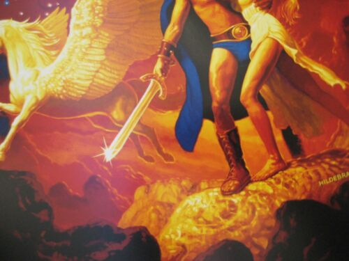 """T1 - B2G1F Movie Collector/'s  Poster Print Clash of the Titans 11/"""" x 17/"""""""