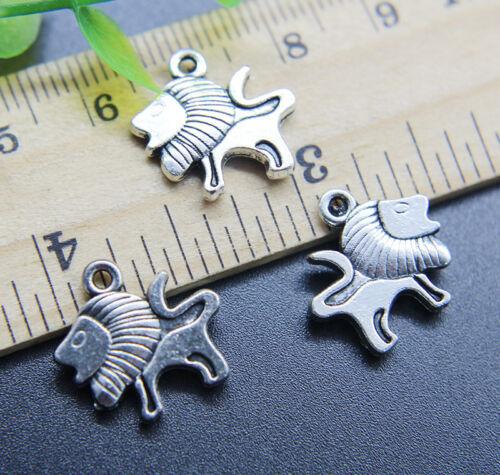 8//20//50pcs Retro Cute Lion Alloy Charms Pendant Jewelry Making DIY 16*15mm