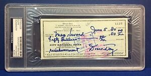 Doris Day signed Cancelled Check Slabbed PSA/DNA # 83770502