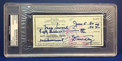 Cards & Papers Doris Day Signed Cancelled Check Slabbed Psa/dna # 83770502 Movies